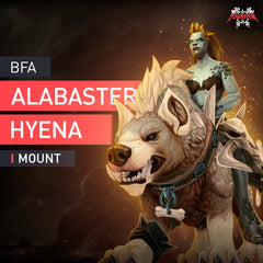 Alabaster Hyena Mount - MMonster