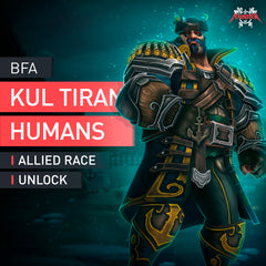 Kul Tiran Humans Allied Race Unlock Boost - MmonsteR