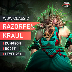 Razorfen Kraul Dungeon Boost Run