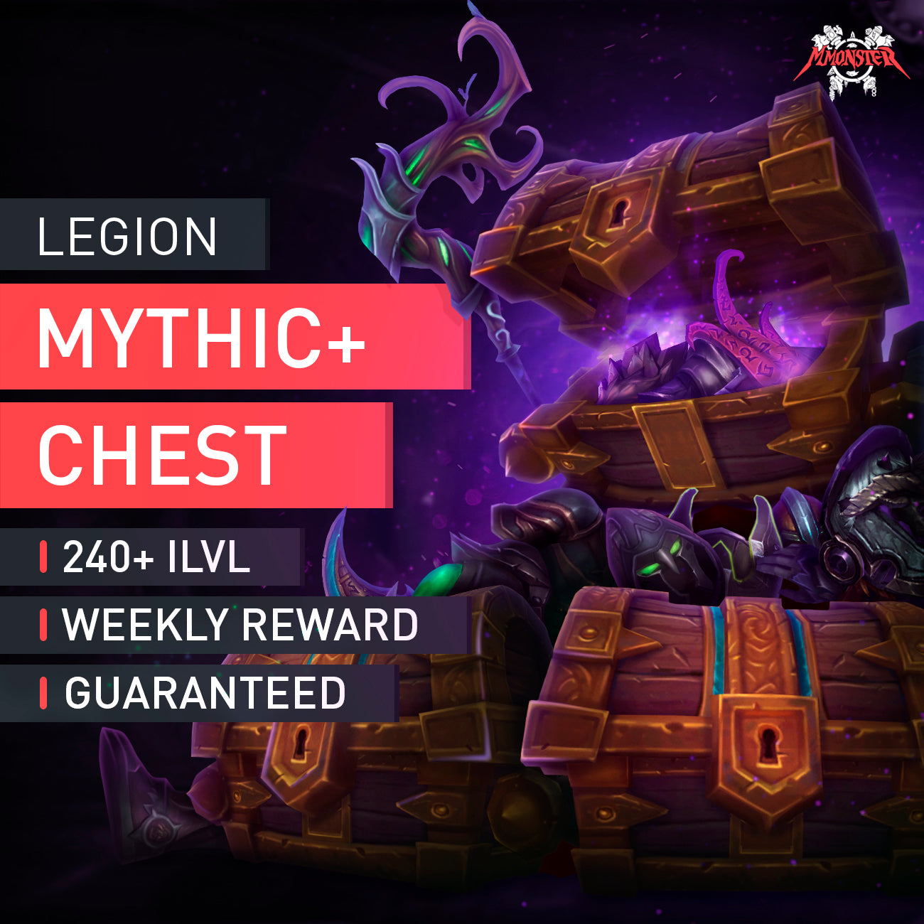 Legion Mythic+ 15 Weekly Chest - MMonster