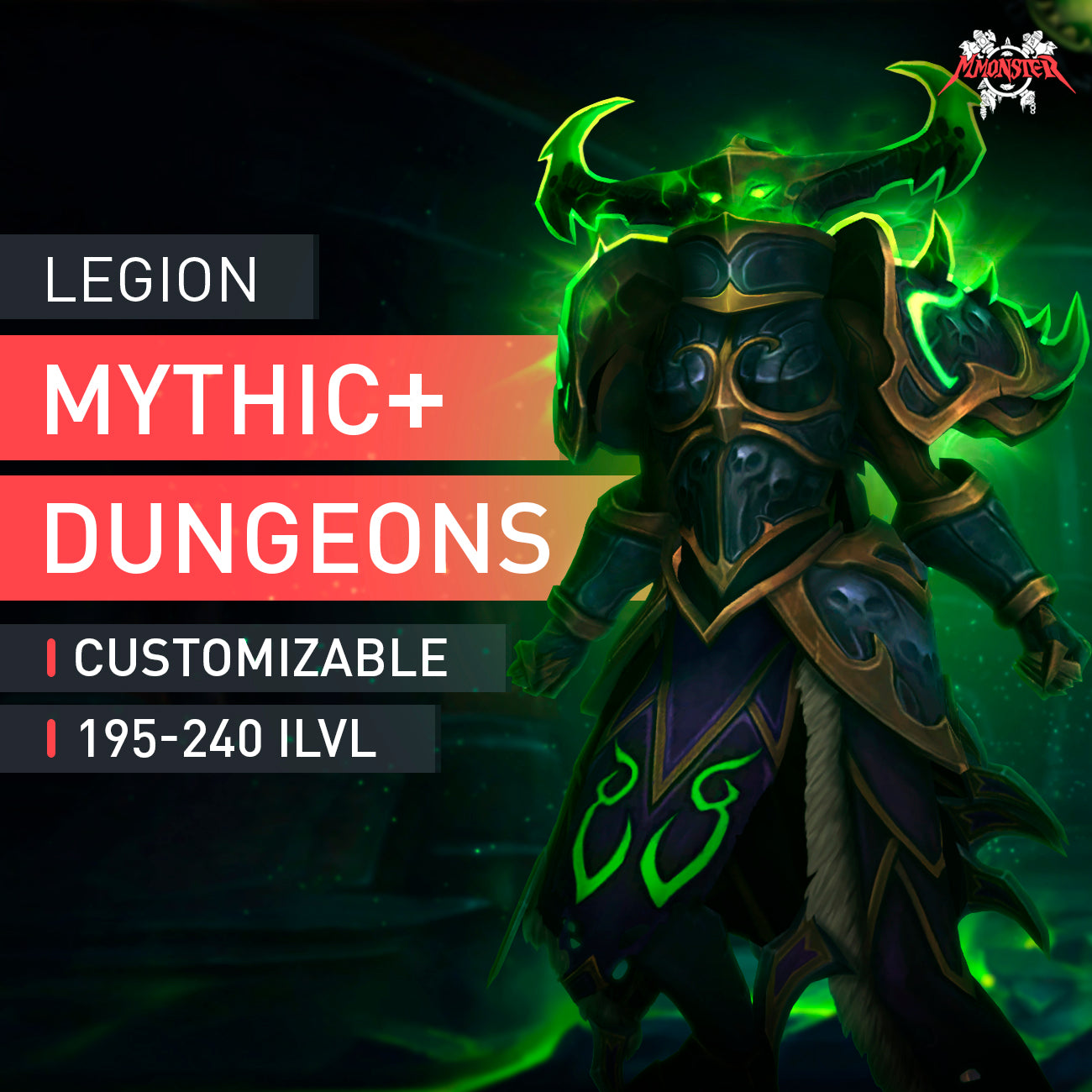 Legion Mythic+ Dungeons Run - MMonster