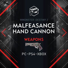 Destiny 2 Malfeasance Exotic Hand Cannon
