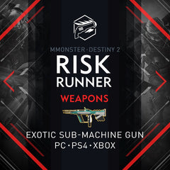 Destiny 2 Riskrunner Exotic Submachine Gun with Catalyst