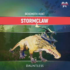 Dauntless Stormclaw Behemoth Kill