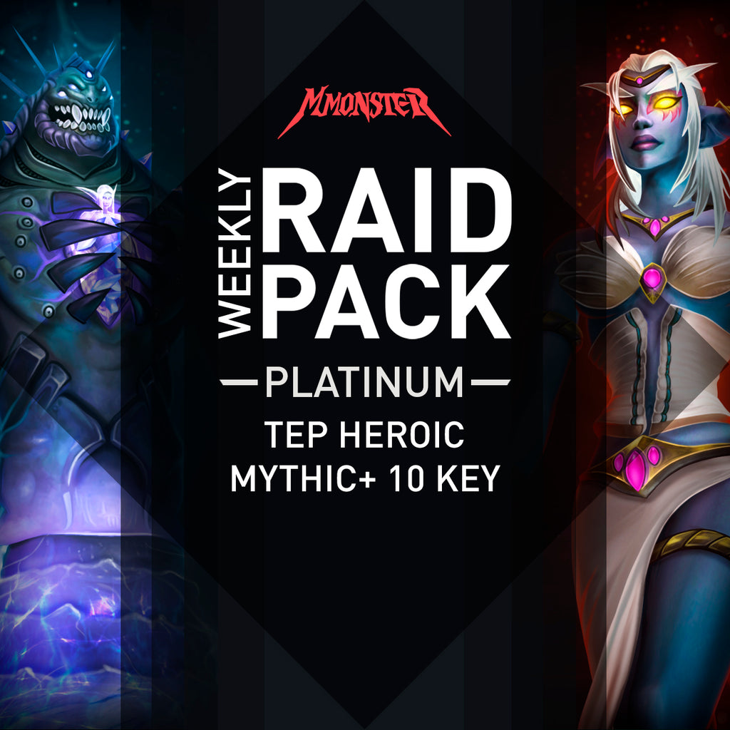 Weekly Platinum pack Bod Heroic mythic+ 10 boost - MmonsteR