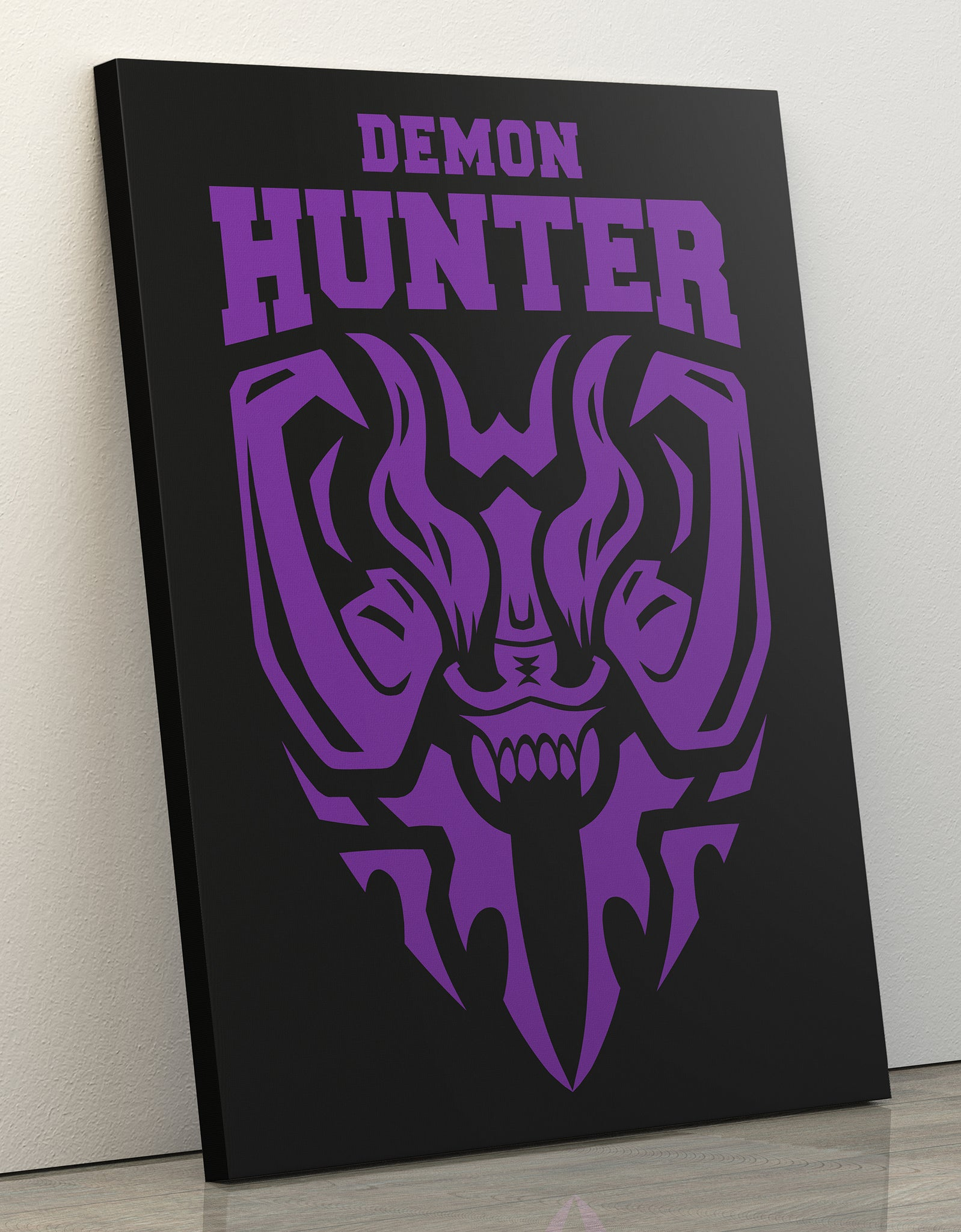 "GIXWEAR Canvas Print 60x80cm ""Demon Hunter"" - MMonster"