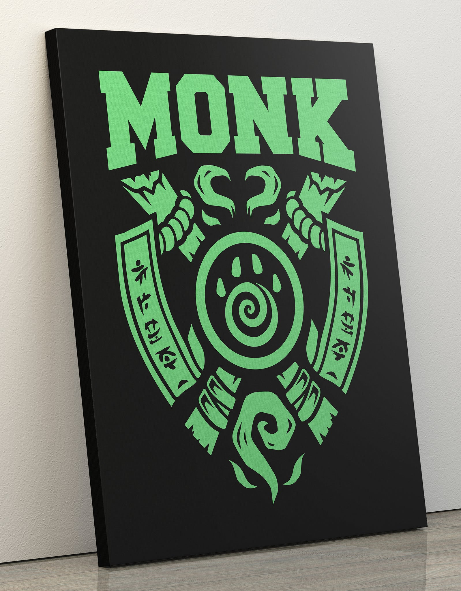 "GIXWEAR Canvas Print 60x80cm ""Monk"" - MMonster"