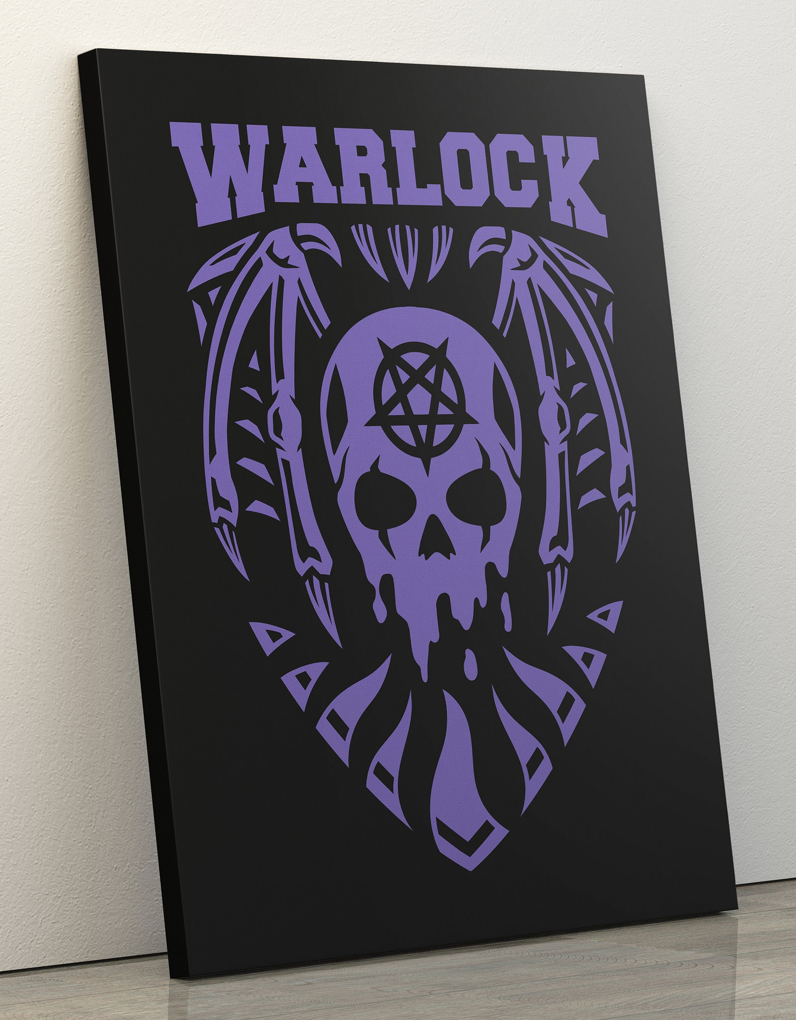 "GIXWEAR Canvas Print 60x80cm ""Warlock"" - MMonster"