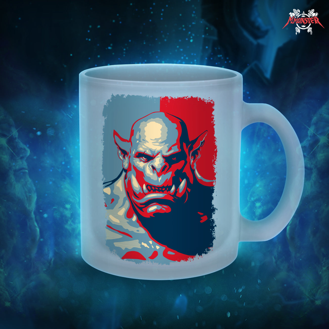 "Gixwear Gamer Coffee Mug ""Bad Orc"" (Colored) - MMonster"