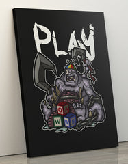"GIXWEAR Canvas Print 60x80cm ""Patchwerk"" - MMonster"