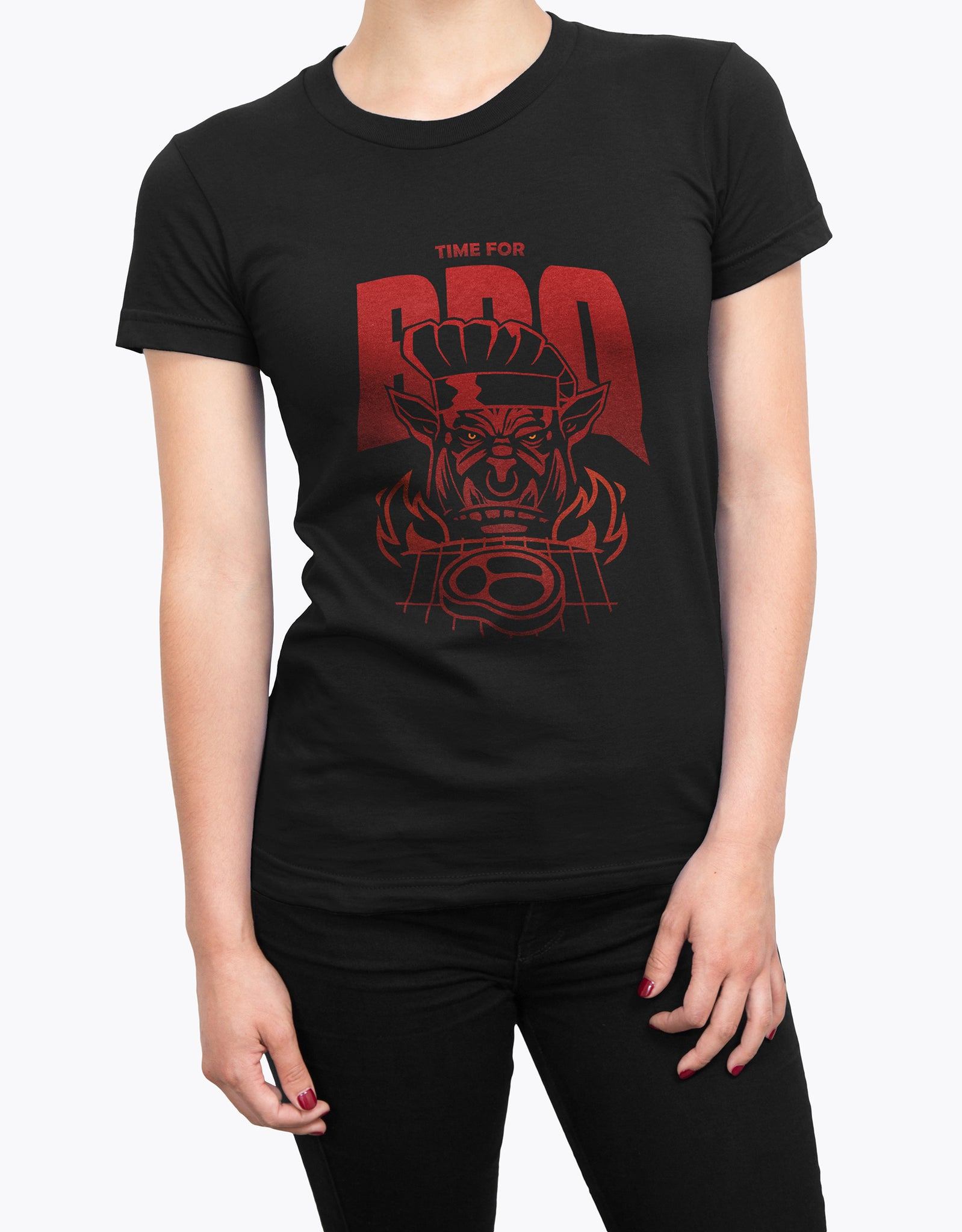 "GIXWEAR Women's T-Shirt ""BBQ Time"" - MMonster"