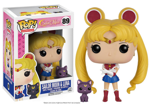 Funko Pop! Sailor Moon - Sailor Moon with Luna - ToyKraze