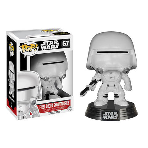 Funko Pop! Star Wars Ep 7 Force Awakens - First Order Snowtrooper (Vaulted) - ToyKraze