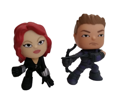 Captain America 3 Civil War Mystery Mini: Hawkeye & Black Widow Set (Loose) - ToyKraze