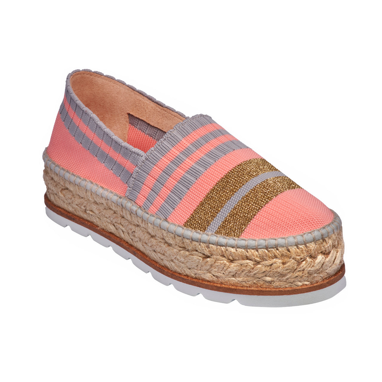 JASMIN Pink/Gold espadrilles - Badt and Co - singapore