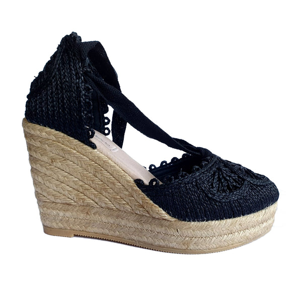 ARGO Black espadrilles - Badt and Co - singapore