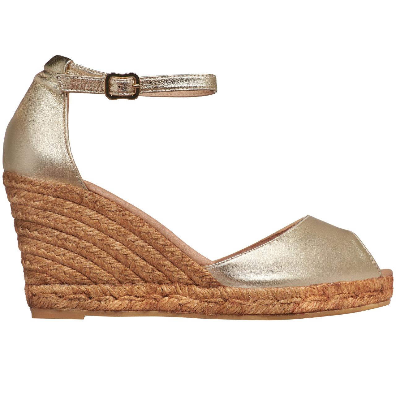 CADAQUES Gold espadrilles - Badt and Co - singapore