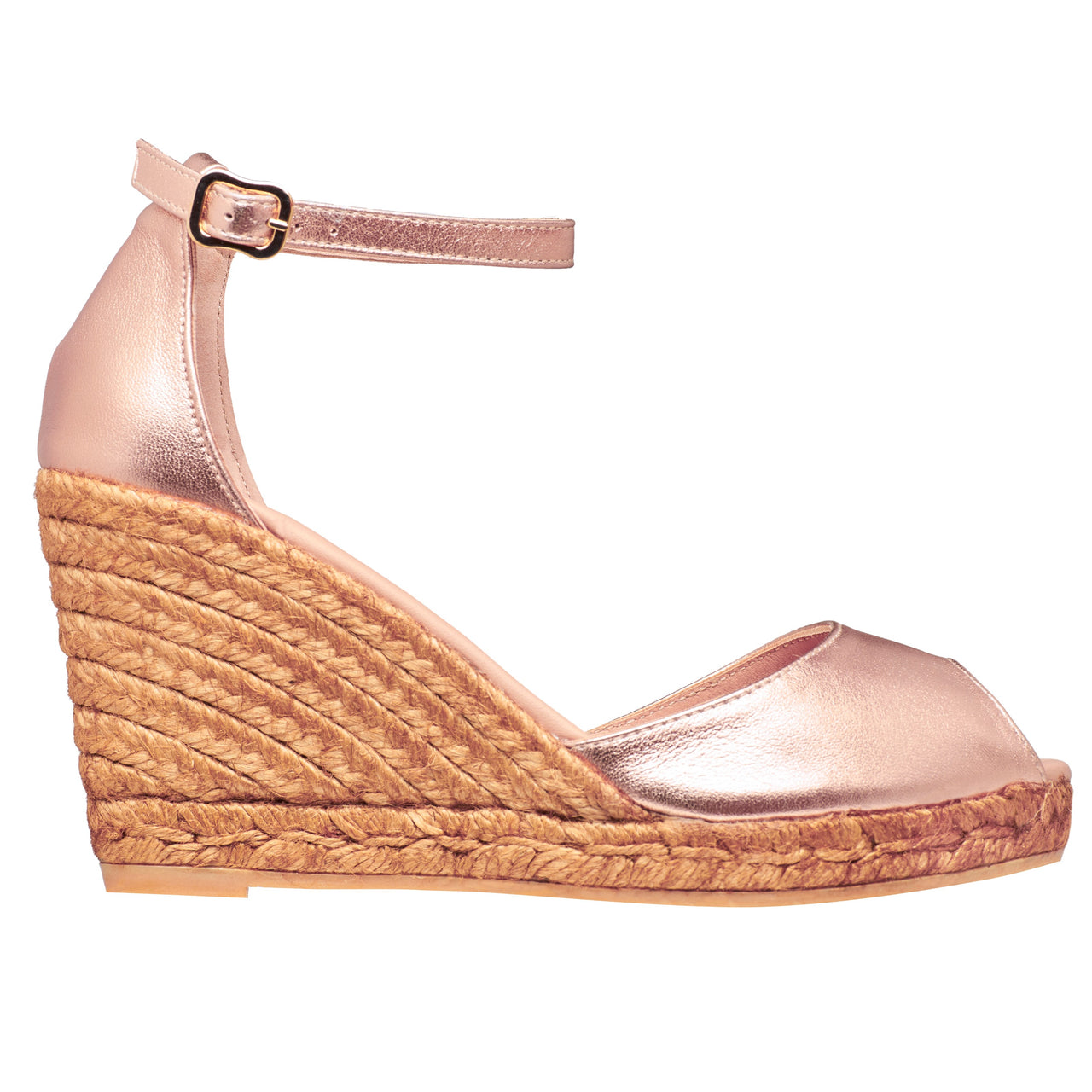 CADAQUES Rose Gold espadrilles - Badt and Co - singapore