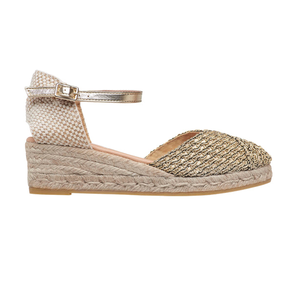 CELIA Gold espadrilles - Badt and Co - singapore