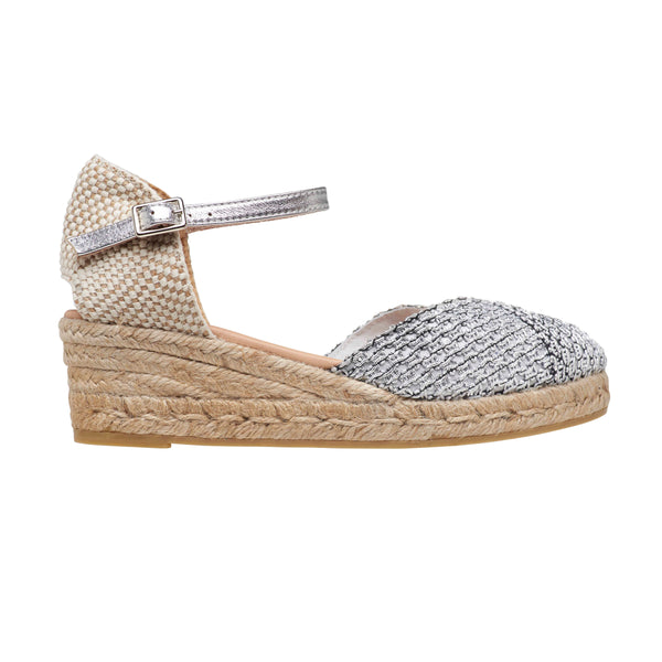 CELIA Silver espadrilles - Badt and Co - singapore