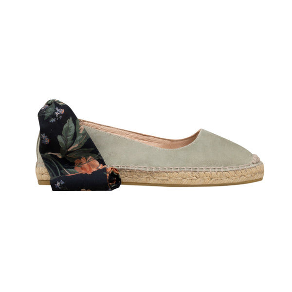 FIONA Light Green flat espadrilles