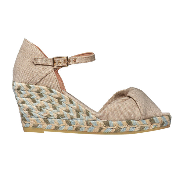 GISELLE LUREX Nude/White espadrilles - Badt and Co - singapore