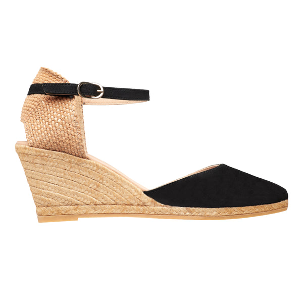 ISLA Black espadrilles wedges - Badt and Co - singapore