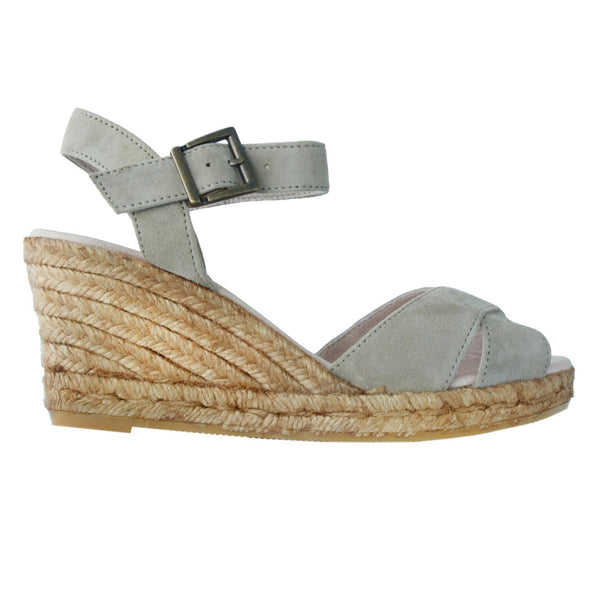 MARBELLA Grey Nude espadrilles - Badt and Co - singapore