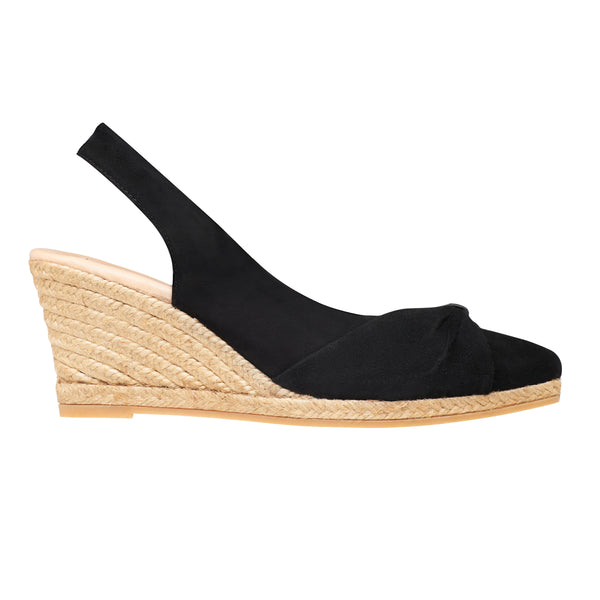 TYSON Black espadrilles - Badt and Co - singapore