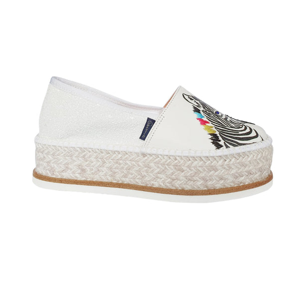ZEBRA White espadrilles - Badt and Co - singapore