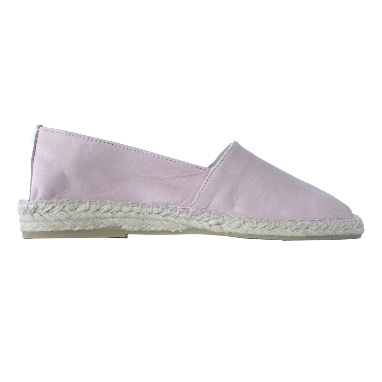 ZEN Blush Pink leather espadrilles - Badt and Co - singapore