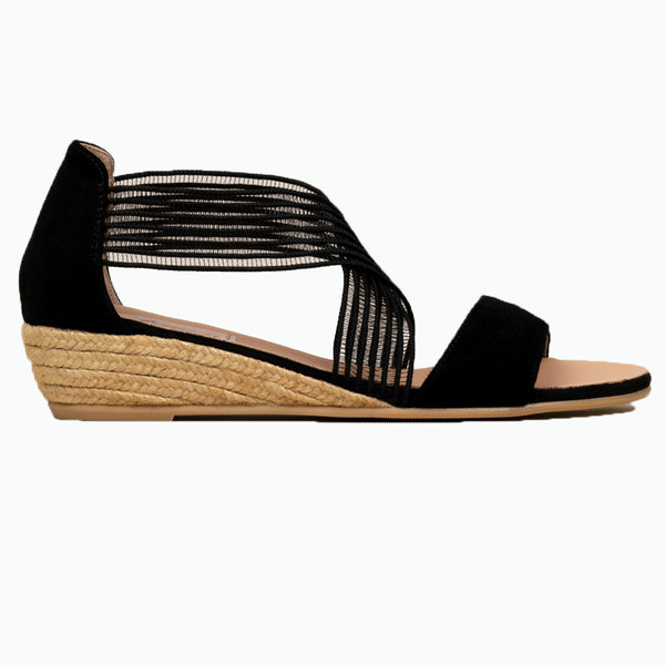 SEVEN Black espadrilles - Badt and Co - singapore