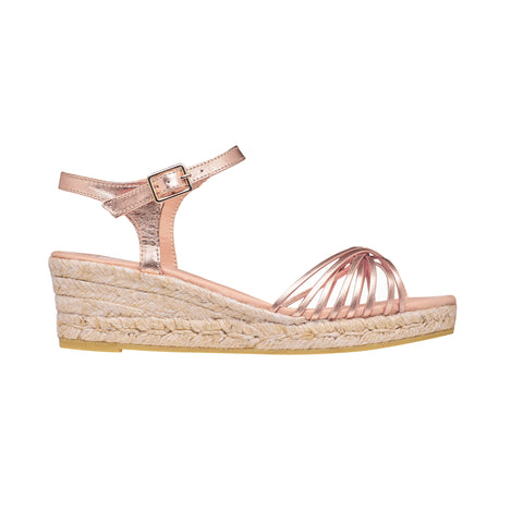 CINNAMON Rose Gold espadrilles