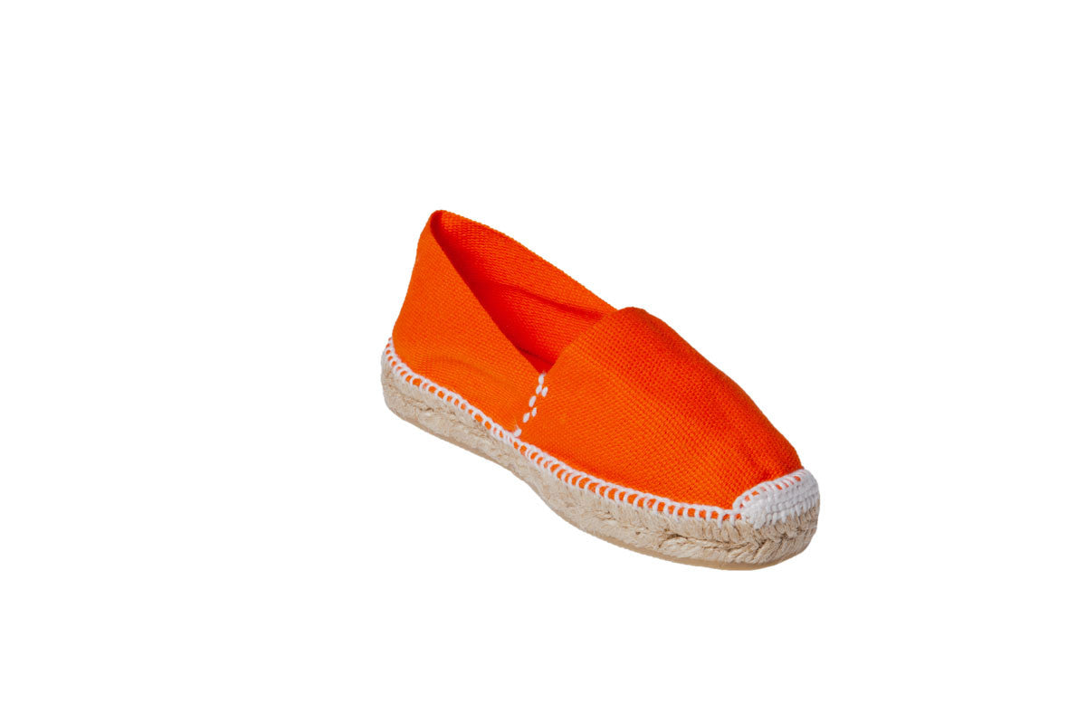 CLASSIC FLATS in ORANGE and NAVY Kids espadrilles - Badt and Co - singapore