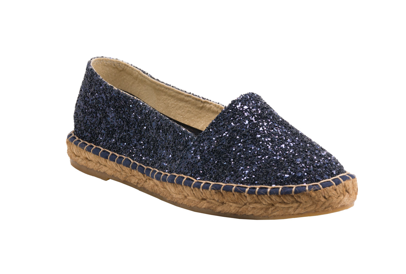 GLITTER Navy espadrilles [size 41 available]