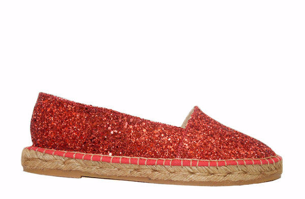 GLITTER RED espadrilles - Badt and Co - singapore
