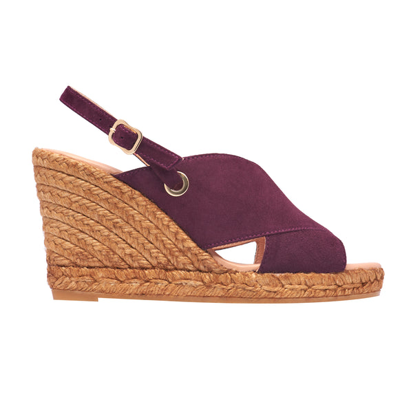GUERIN Maroon espadrilles [size 35 available]