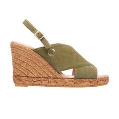 GUERIN AUBERGINE and OLIVE espadrilles