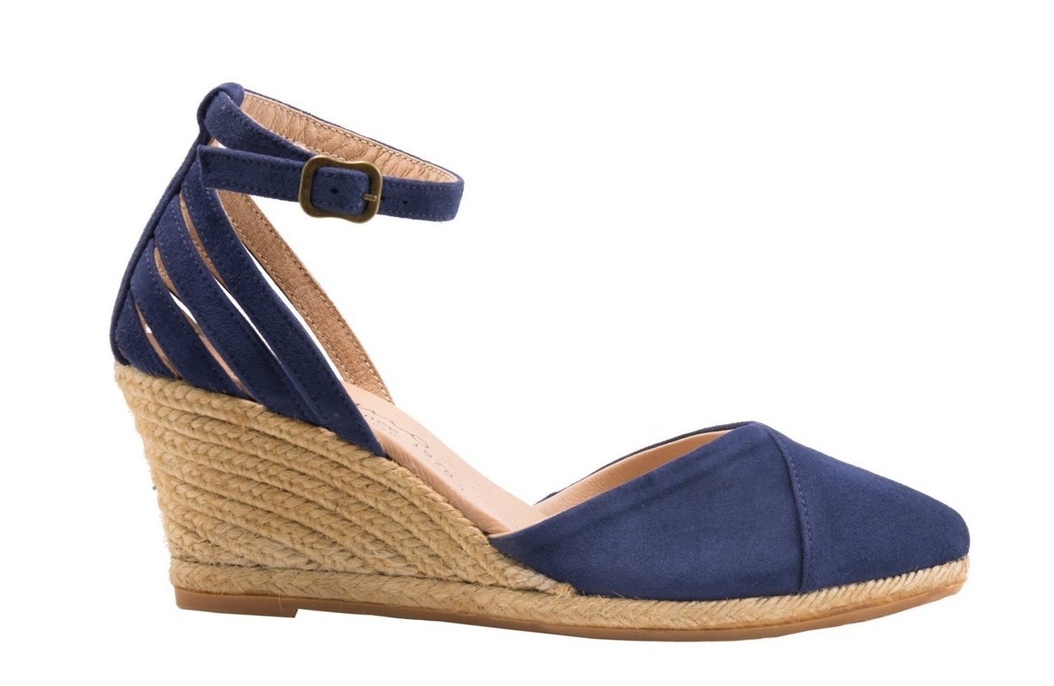 TEMPLO Black and Midnight Blue espadrilles
