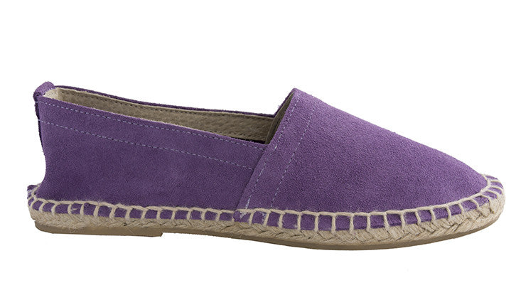 FUNKY VELVET Purple Flat espadrilles [sizes 39, 40 available]
