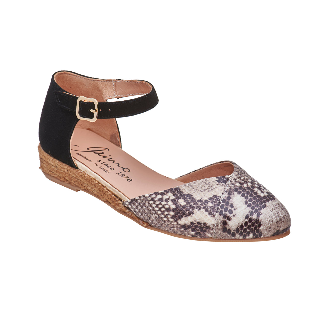 YANA Python Effect Leather espadrilles - Badt and Co - singapore