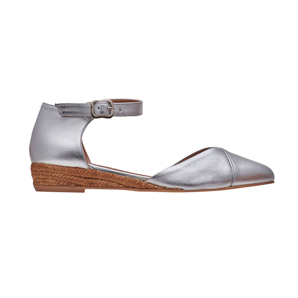 YANA Silver espadrilles [sizes 35, 37, 41 available]