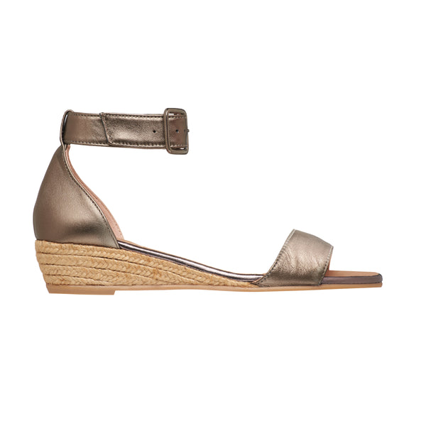 NELI Bronze espadrilles - Badt and Co - singapore