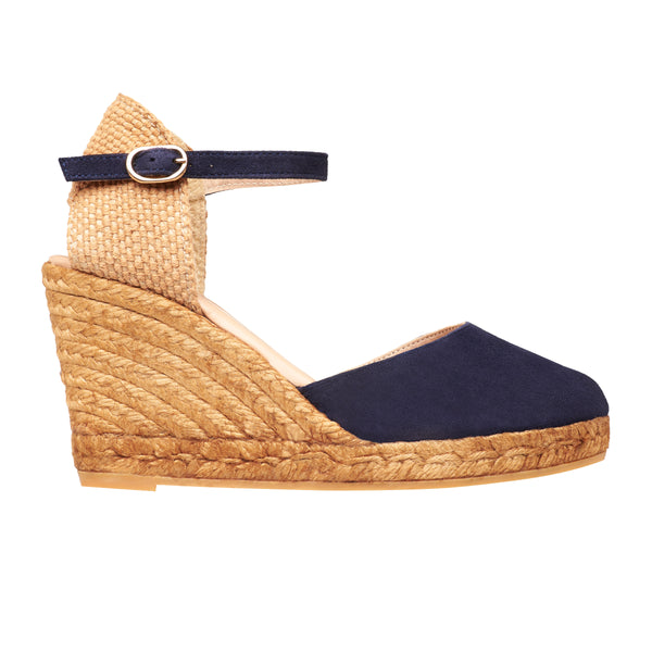 OBI Suede Midnight Blue espadrilles wedges