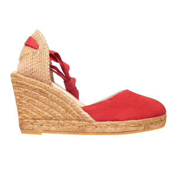 OBI Suede Red espadrilles wedges