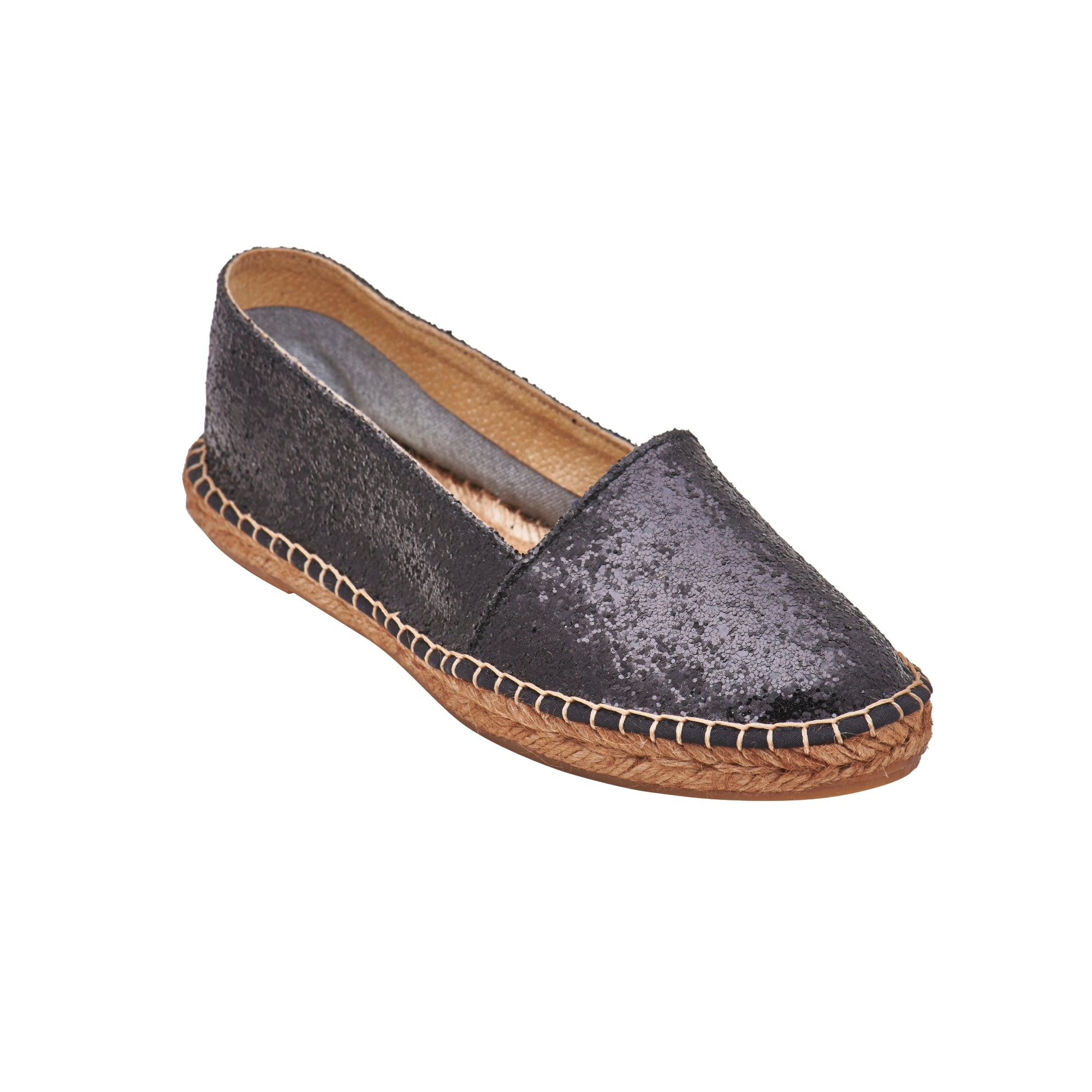 GLITTER Black espadrilles [sizes 36, 40, 41 available]