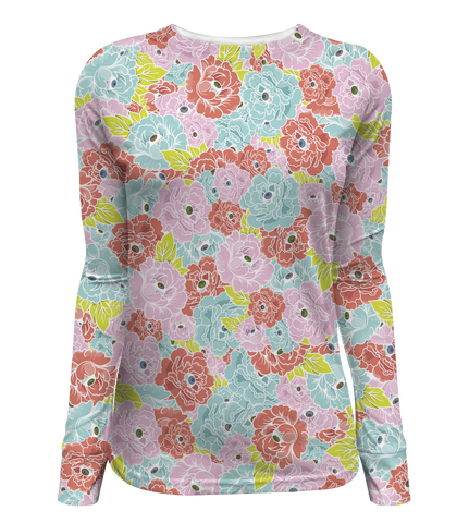 """Flower Eyes"" Women's Long Sleeve Tee"
