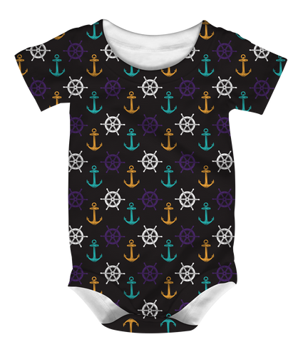 """Boats & O's"" Baby Onesie"