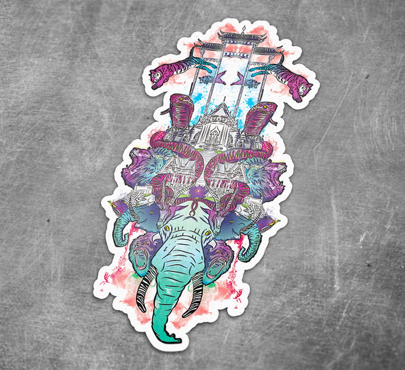 """Animal Kingdom"" Sticker"