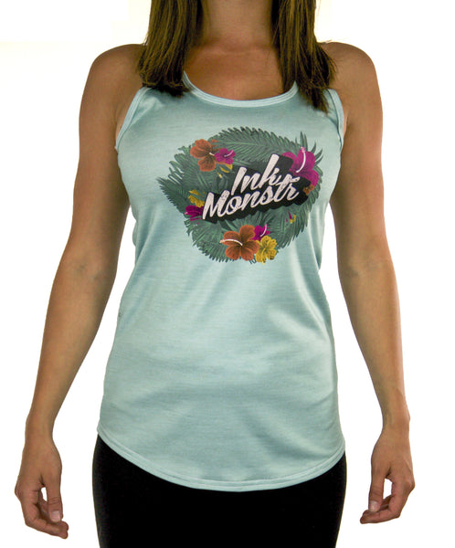 """Tropic Teal"" Racerback Tank Top"